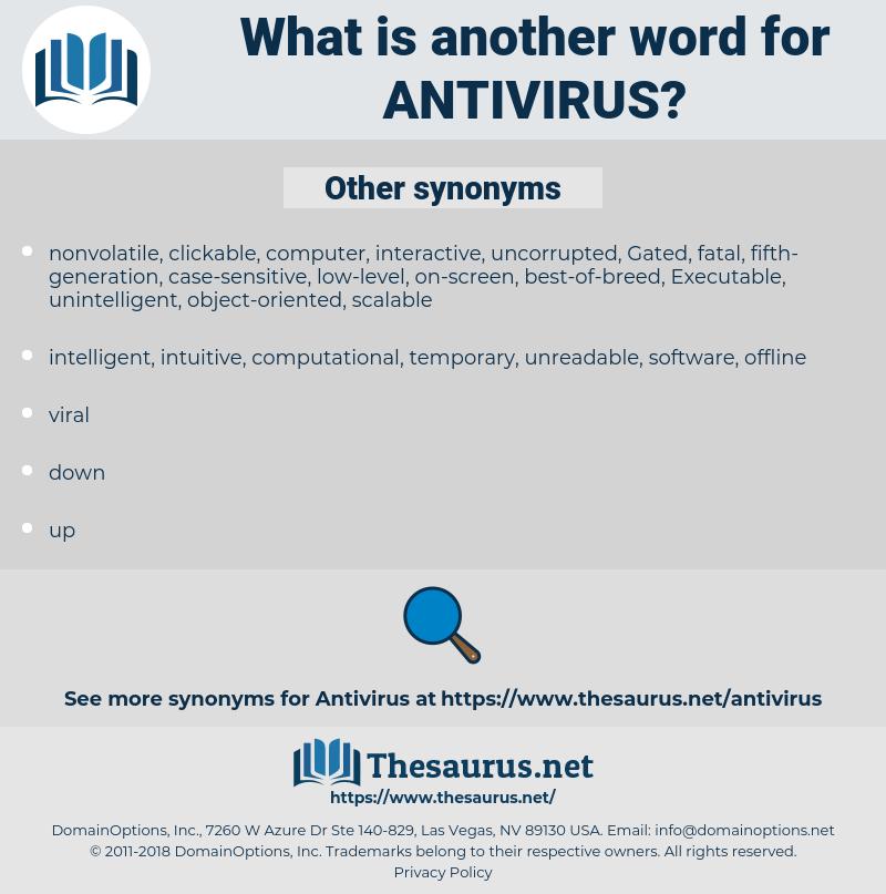 Antivirus, synonym Antivirus, another word for Antivirus, words like Antivirus, thesaurus Antivirus