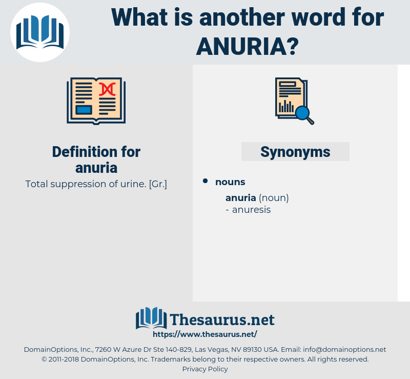 anuria, synonym anuria, another word for anuria, words like anuria, thesaurus anuria