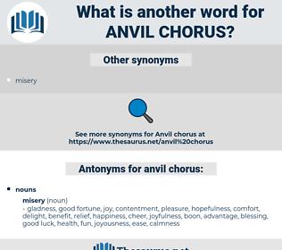 anvil chorus, synonym anvil chorus, another word for anvil chorus, words like anvil chorus, thesaurus anvil chorus