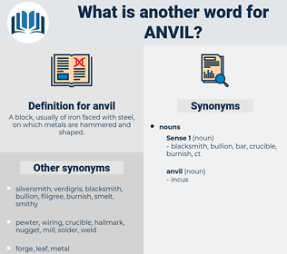 anvil, synonym anvil, another word for anvil, words like anvil, thesaurus anvil