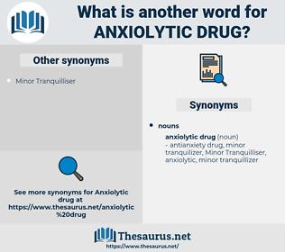 anxiolytic drug, synonym anxiolytic drug, another word for anxiolytic drug, words like anxiolytic drug, thesaurus anxiolytic drug