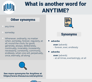 anytime, synonym anytime, another word for anytime, words like anytime, thesaurus anytime