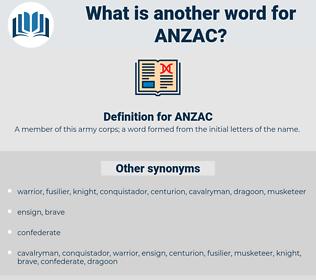 ANZAC, synonym ANZAC, another word for ANZAC, words like ANZAC, thesaurus ANZAC