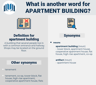 apartment building, synonym apartment building, another word for apartment building, words like apartment building, thesaurus apartment building