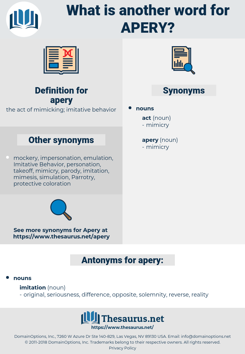 apery, synonym apery, another word for apery, words like apery, thesaurus apery