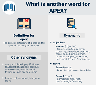 apex, synonym apex, another word for apex, words like apex, thesaurus apex