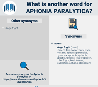 Aphonia Paralytica, synonym Aphonia Paralytica, another word for Aphonia Paralytica, words like Aphonia Paralytica, thesaurus Aphonia Paralytica