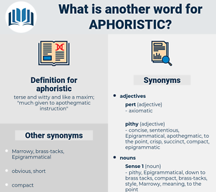 aphoristic, synonym aphoristic, another word for aphoristic, words like aphoristic, thesaurus aphoristic
