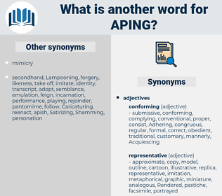 Aping, synonym Aping, another word for Aping, words like Aping, thesaurus Aping