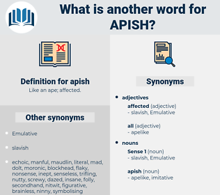apish, synonym apish, another word for apish, words like apish, thesaurus apish