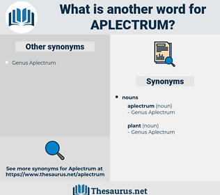 aplectrum, synonym aplectrum, another word for aplectrum, words like aplectrum, thesaurus aplectrum