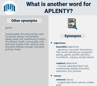 aplenty, synonym aplenty, another word for aplenty, words like aplenty, thesaurus aplenty