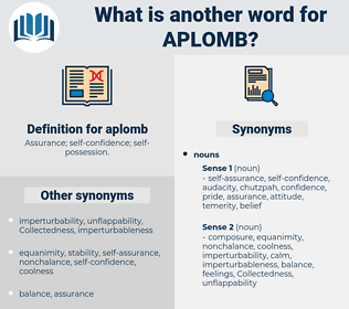 aplomb, synonym aplomb, another word for aplomb, words like aplomb, thesaurus aplomb
