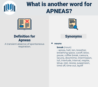 Apneas, synonym Apneas, another word for Apneas, words like Apneas, thesaurus Apneas