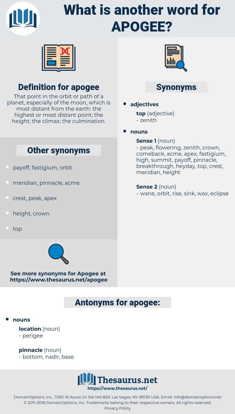 apogee, synonym apogee, another word for apogee, words like apogee, thesaurus apogee