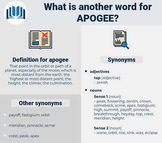 apogee, synonym apogee, another word for apogee, words like apogee, thesaurus apogee
