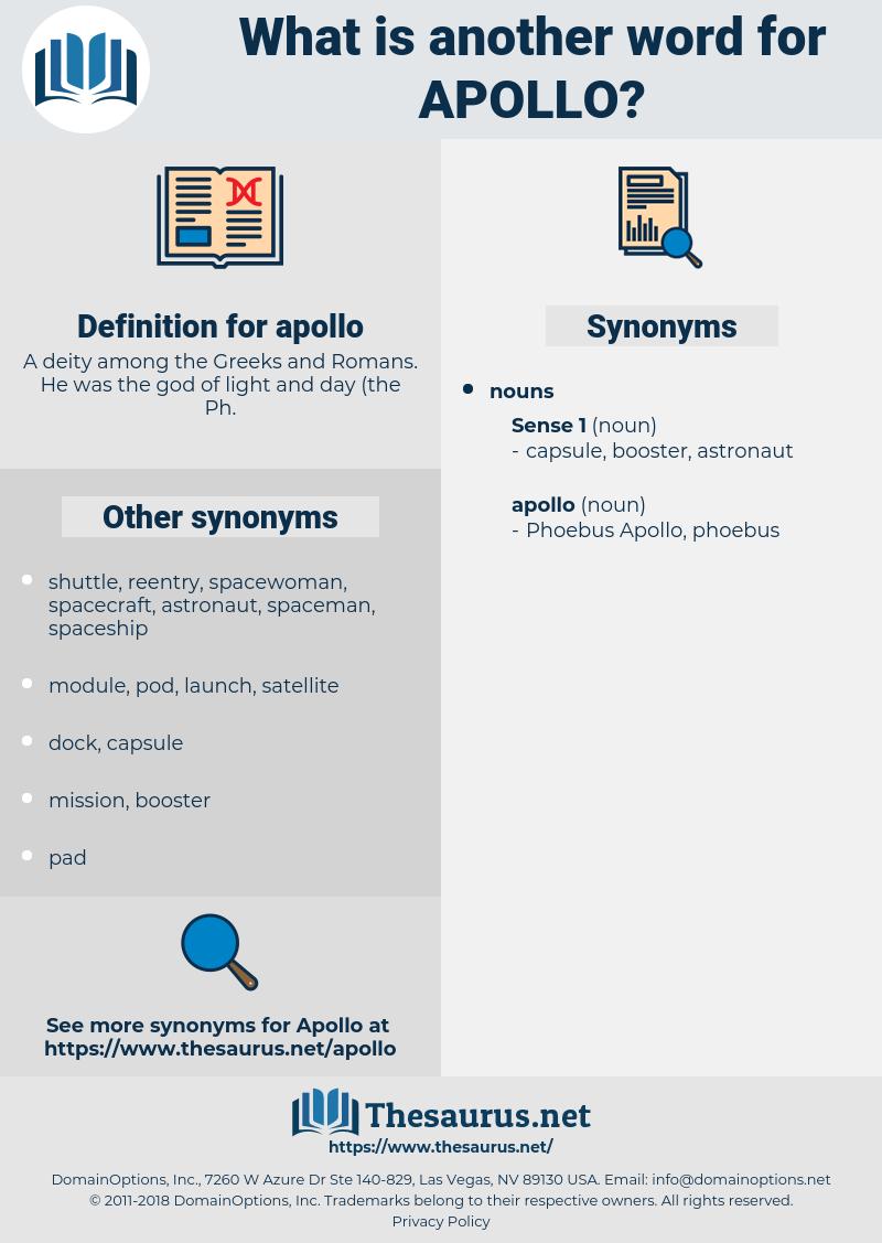 apollo, synonym apollo, another word for apollo, words like apollo, thesaurus apollo