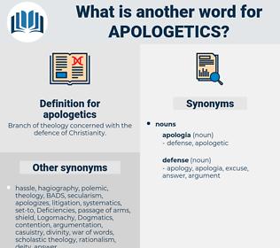 apologetics, synonym apologetics, another word for apologetics, words like apologetics, thesaurus apologetics