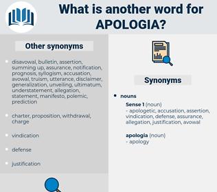apologia, synonym apologia, another word for apologia, words like apologia, thesaurus apologia