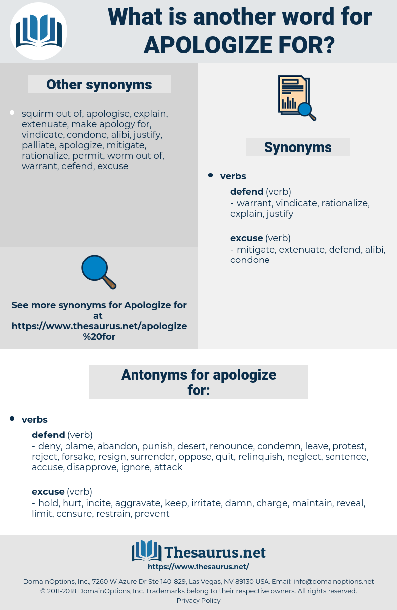 apologize for, synonym apologize for, another word for apologize for, words like apologize for, thesaurus apologize for