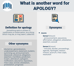 apology, synonym apology, another word for apology, words like apology, thesaurus apology