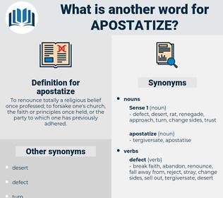 apostatize, synonym apostatize, another word for apostatize, words like apostatize, thesaurus apostatize
