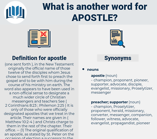 apostle, synonym apostle, another word for apostle, words like apostle, thesaurus apostle