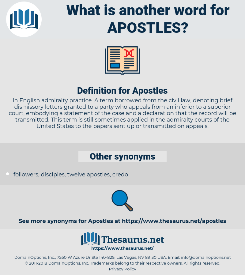 Apostles, synonym Apostles, another word for Apostles, words like Apostles, thesaurus Apostles