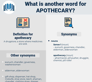 apothecary, synonym apothecary, another word for apothecary, words like apothecary, thesaurus apothecary