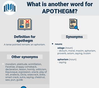 apothegm, synonym apothegm, another word for apothegm, words like apothegm, thesaurus apothegm