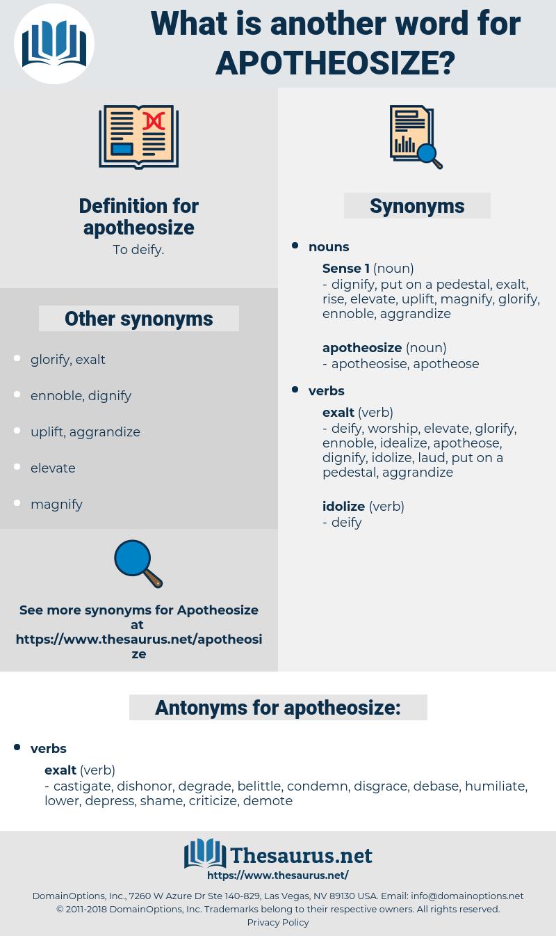 apotheosize, synonym apotheosize, another word for apotheosize, words like apotheosize, thesaurus apotheosize