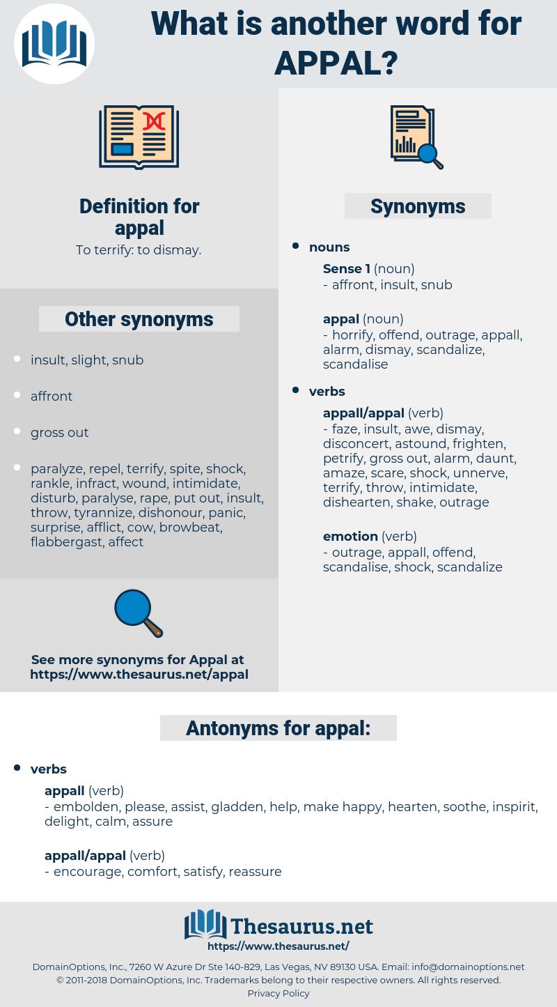 appal, synonym appal, another word for appal, words like appal, thesaurus appal