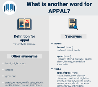 appal, synonym appal, another word for appal, words like appal, thesaurus appal