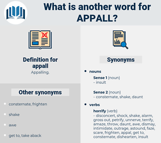 appall, synonym appall, another word for appall, words like appall, thesaurus appall