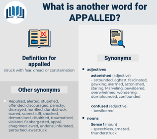 appalled, synonym appalled, another word for appalled, words like appalled, thesaurus appalled