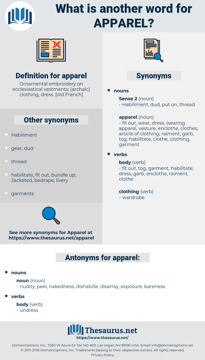 apparel, synonym apparel, another word for apparel, words like apparel, thesaurus apparel