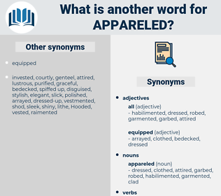 appareled, synonym appareled, another word for appareled, words like appareled, thesaurus appareled
