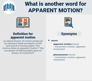 apparent motion, synonym apparent motion, another word for apparent motion, words like apparent motion, thesaurus apparent motion