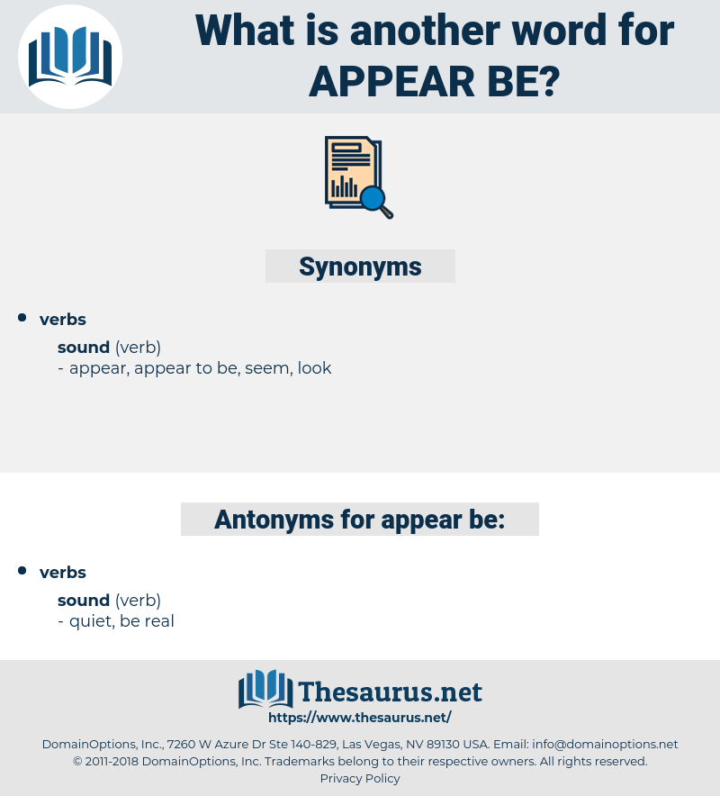 appear be, synonym appear be, another word for appear be, words like appear be, thesaurus appear be