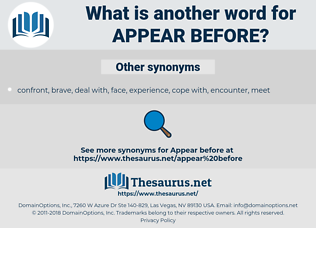 appear before, synonym appear before, another word for appear before, words like appear before, thesaurus appear before