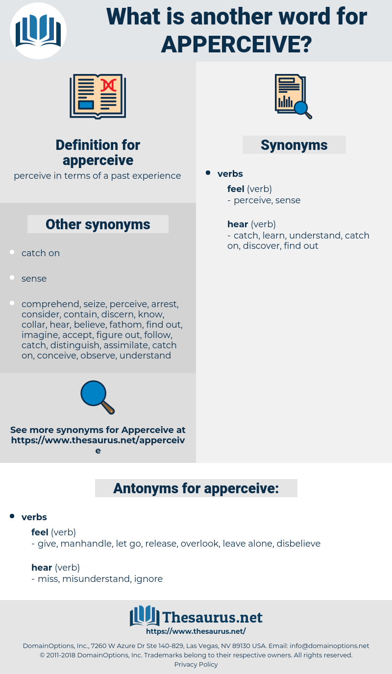apperceive, synonym apperceive, another word for apperceive, words like apperceive, thesaurus apperceive