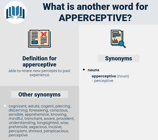 apperceptive, synonym apperceptive, another word for apperceptive, words like apperceptive, thesaurus apperceptive