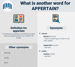 appertain, synonym appertain, another word for appertain, words like appertain, thesaurus appertain