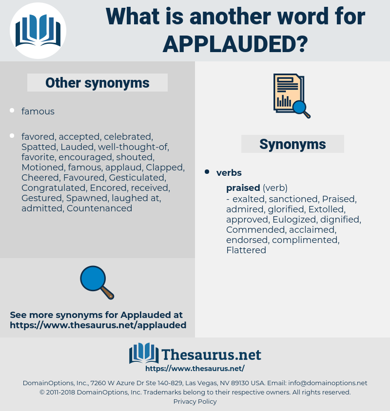 Applauded, synonym Applauded, another word for Applauded, words like Applauded, thesaurus Applauded