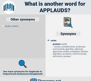 applauds, synonym applauds, another word for applauds, words like applauds, thesaurus applauds