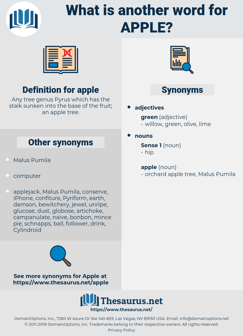 apple, synonym apple, another word for apple, words like apple, thesaurus apple