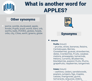 apples, synonym apples, another word for apples, words like apples, thesaurus apples