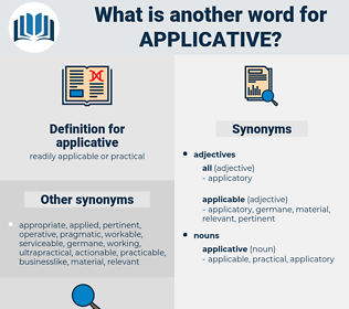 applicative, synonym applicative, another word for applicative, words like applicative, thesaurus applicative