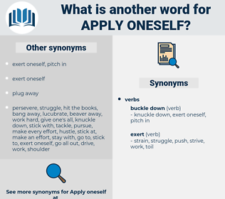 apply oneself, synonym apply oneself, another word for apply oneself, words like apply oneself, thesaurus apply oneself