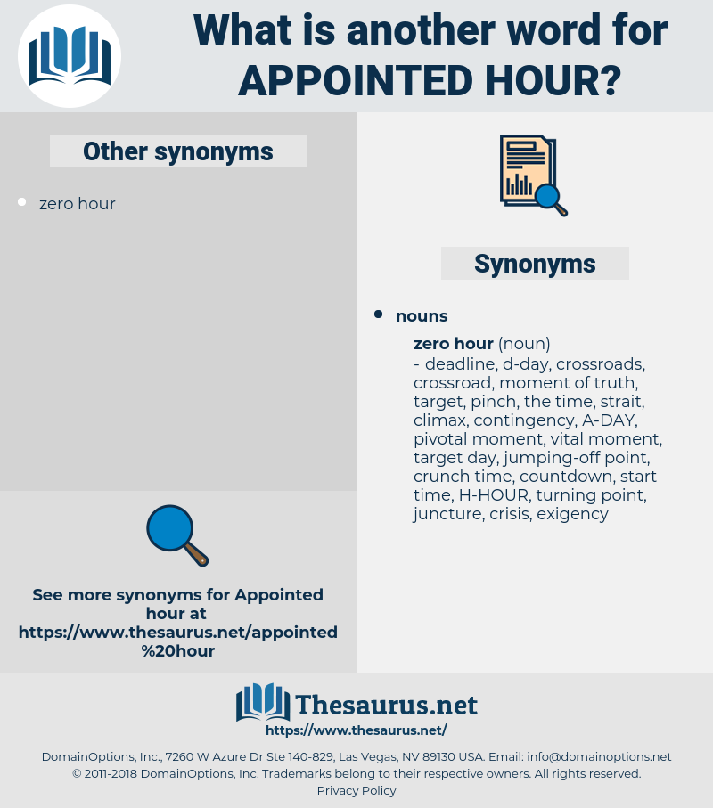 appointed hour, synonym appointed hour, another word for appointed hour, words like appointed hour, thesaurus appointed hour
